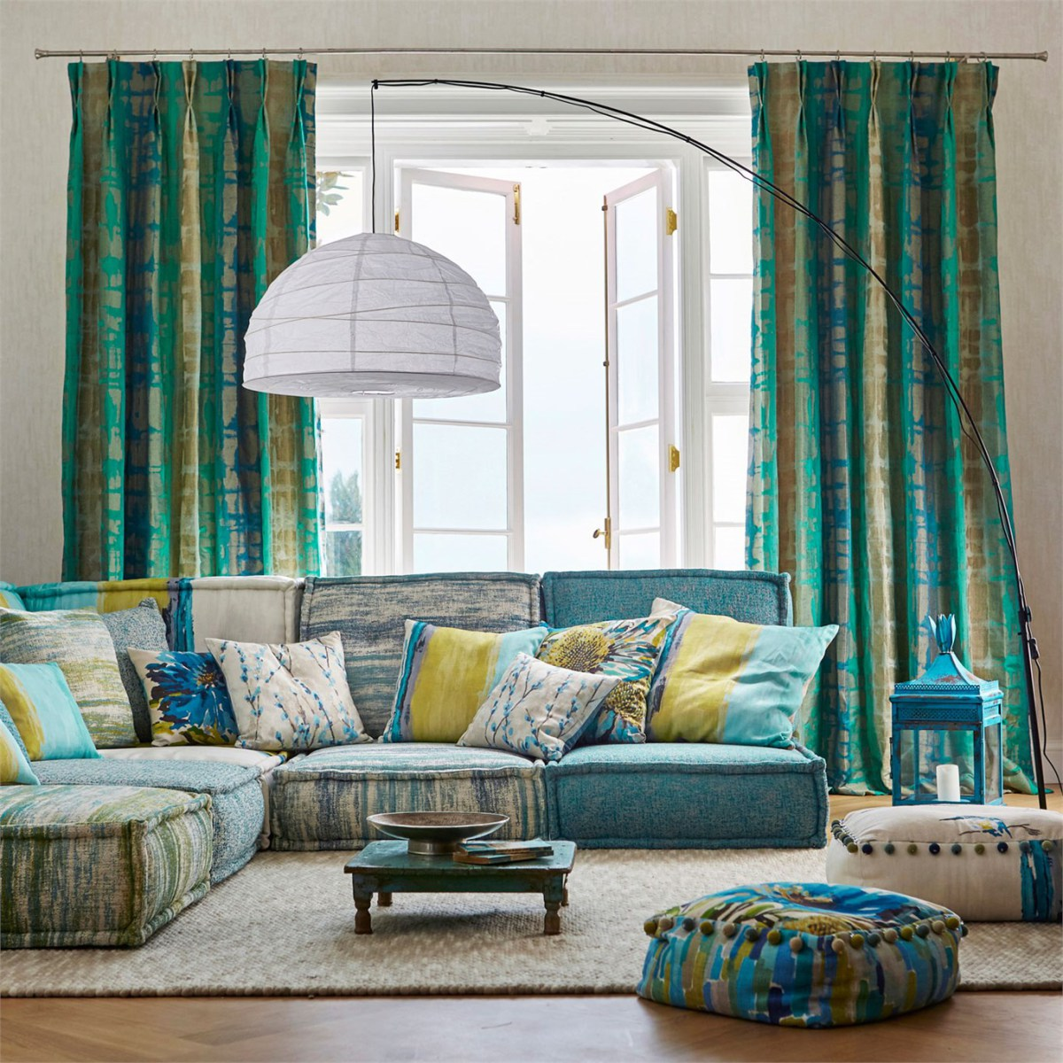 Elige telas online para cortinas y viste tu hogar que - Moda en cortinas de salon ...