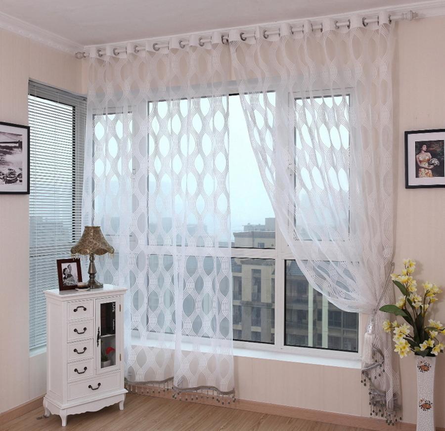 tela online de encaje para cortinas