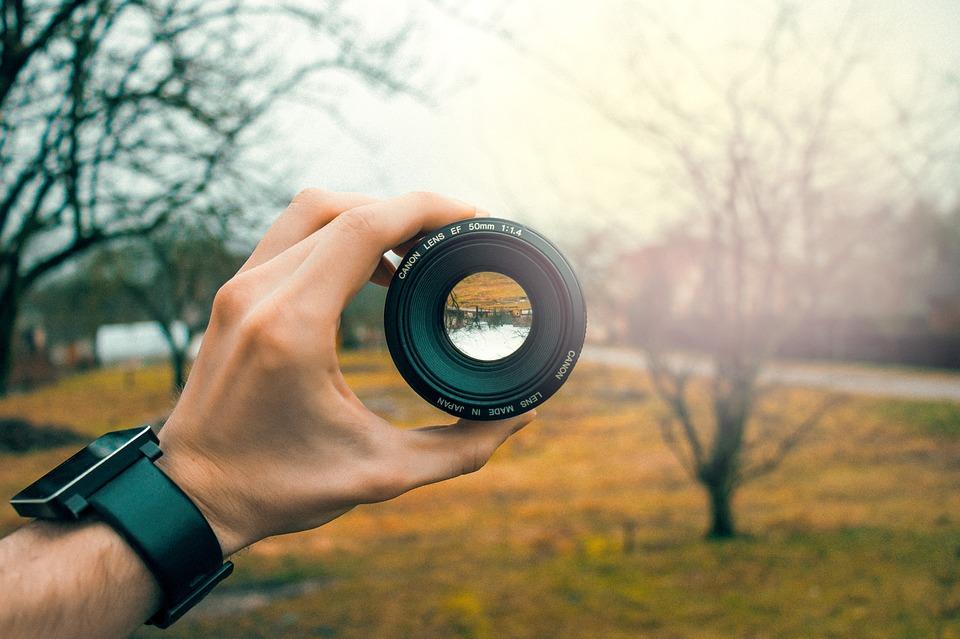 papel fotográfico objetivo