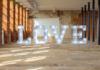 Letras corporeas para bodas